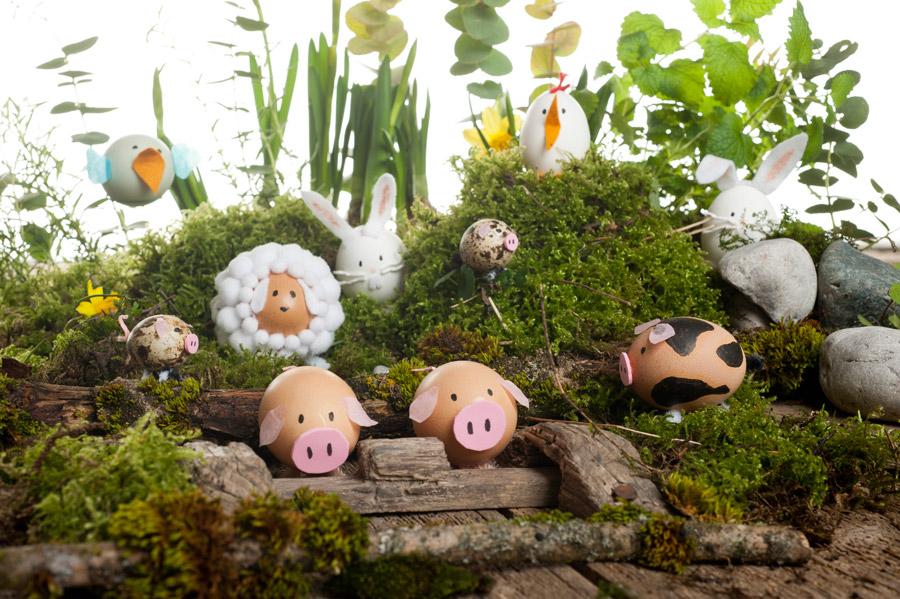 Easter egg animals home decoration
